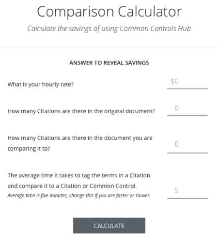 Comparison Calculator